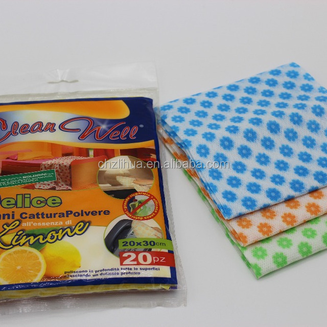 100% Biodegradable disposable nonwoven kitchen cleaning cloth