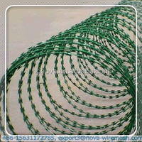 Razor steel barbed wire fence for prison - weight : 25kg per roll (Gold Supplier / manufacturer)