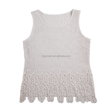 Mature ladies sleeveless tops blouses dresses/female garment design