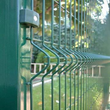 rectangle post electric wire security welded wire mesh fence system