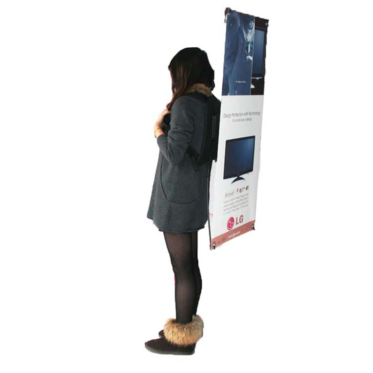 Fashonable advertising backpack display stand