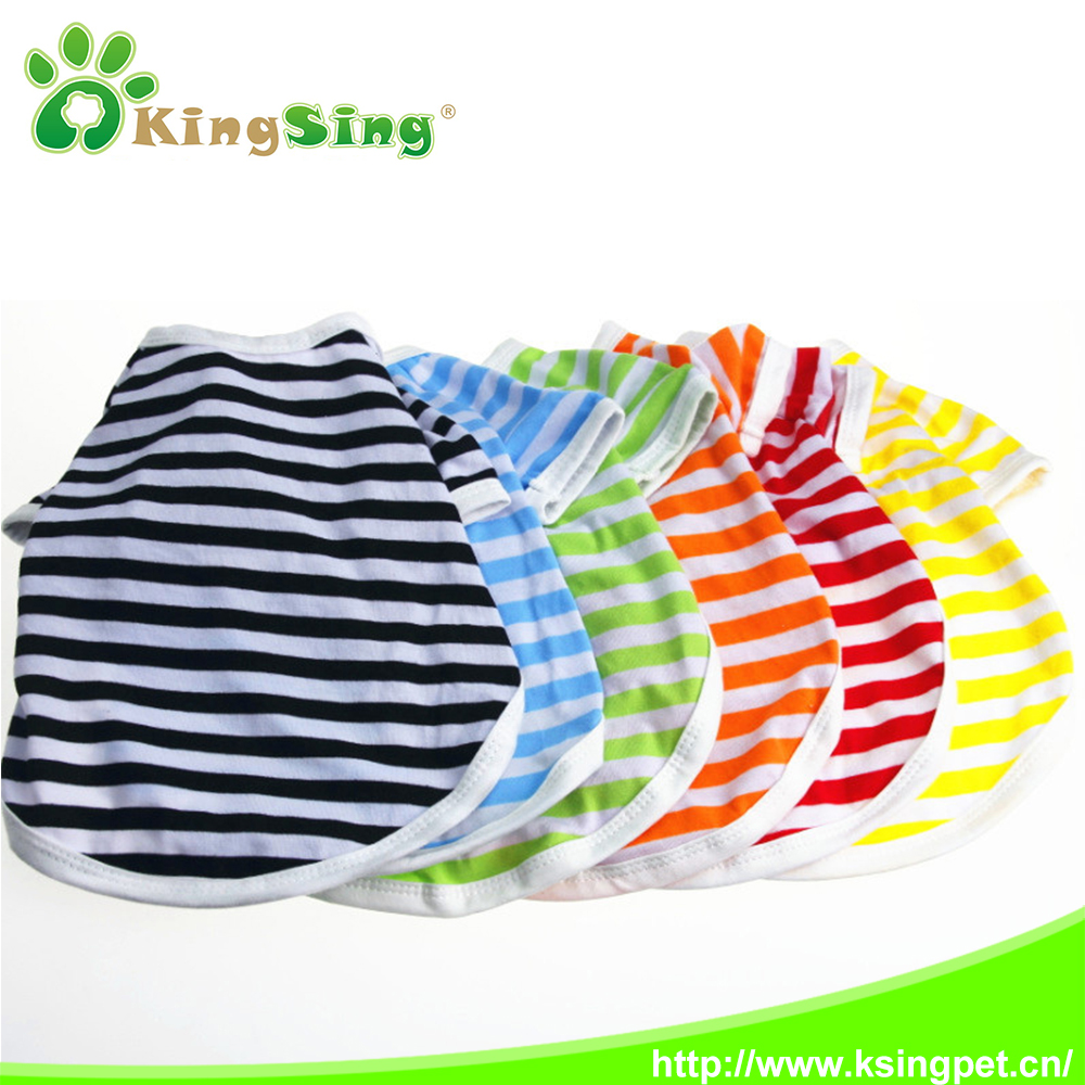 Casual dog t-shirt little boy dog clothing pet clothes, striped small dog clothing