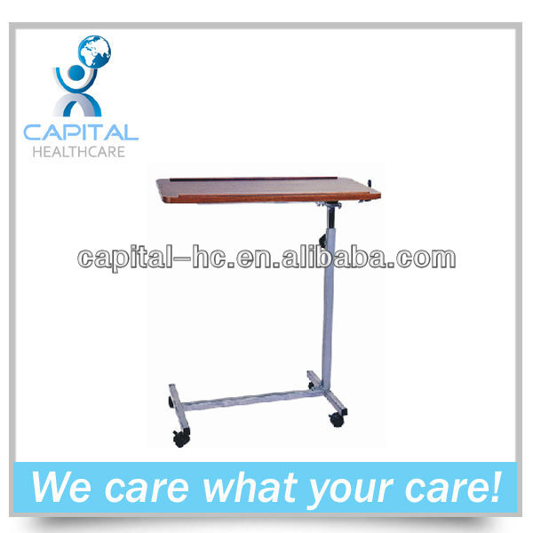 CP-K210 hospital bed over bed table with wheels