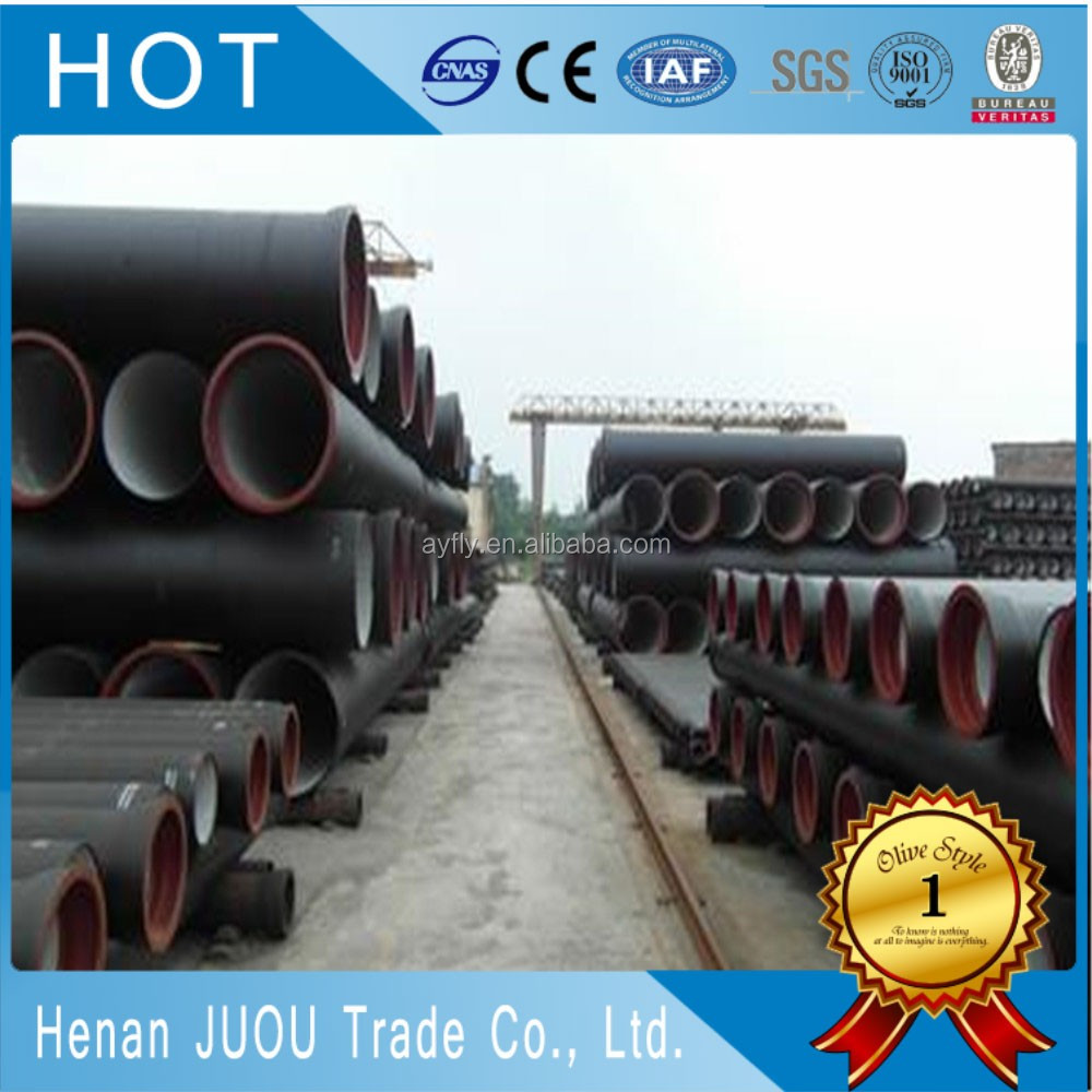 C25 C30C40 galvanzied coated casting ductile iron pipe