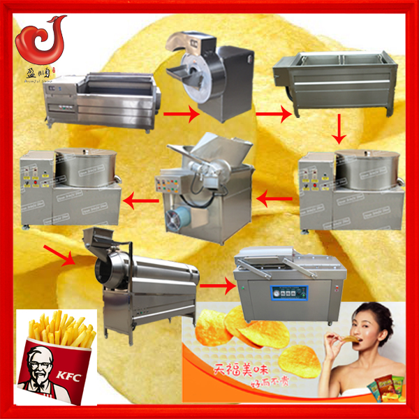 fully automatic 304 stainless steel industrial ligne de production de chips de pommes de terre