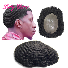 100% Virgin Human Hair Men Toupee With Transparent All Skin PU Thin Skin Toupee 360 Weave
