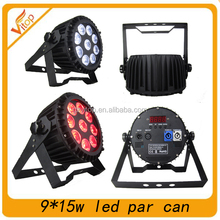 high brightness cheap price led rgbwa+uv 6in1 stage light,led 9x15w par