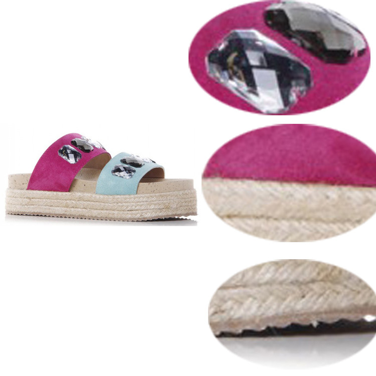 flat high heel women slipper