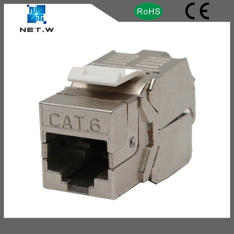 cat 6 wall jack FTP tooless ethernet keystone jack, patch panel keystone