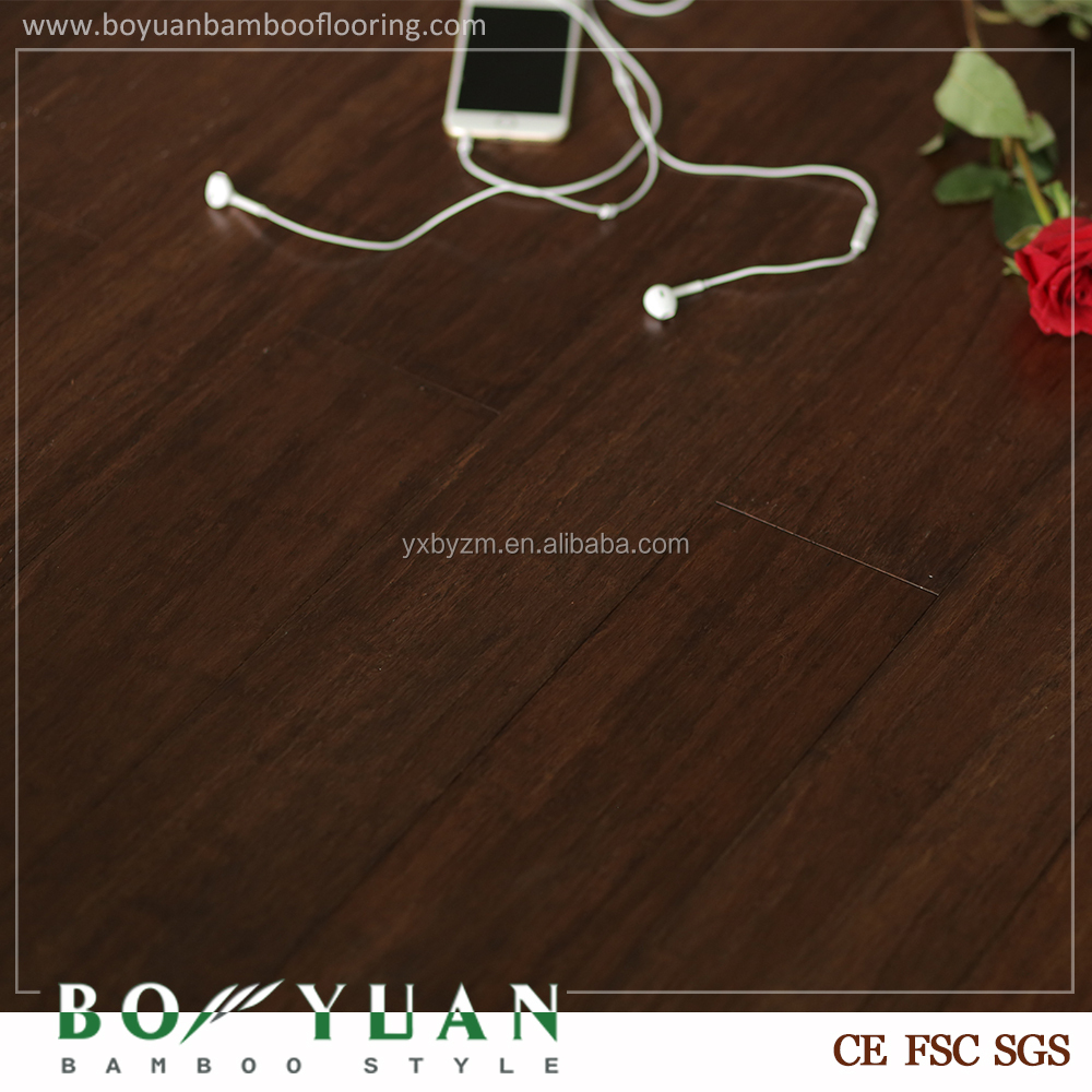 carbonized click strand woven bamboo flooring with stained color, walnut, teak,caramel cherry color