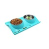 Colorful Double Pet Stainless Steel bowls pet dinner feeder and drinker bowls