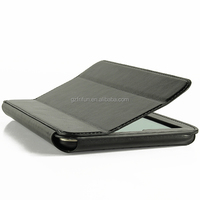 Book style folio stand tablet leather case design for asus