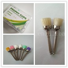 screw shank white bristle cup shape prophy disposable mini dental cleaning brush