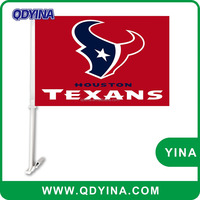 Hot selling new design houston texans 30x45cm Polyester car flag