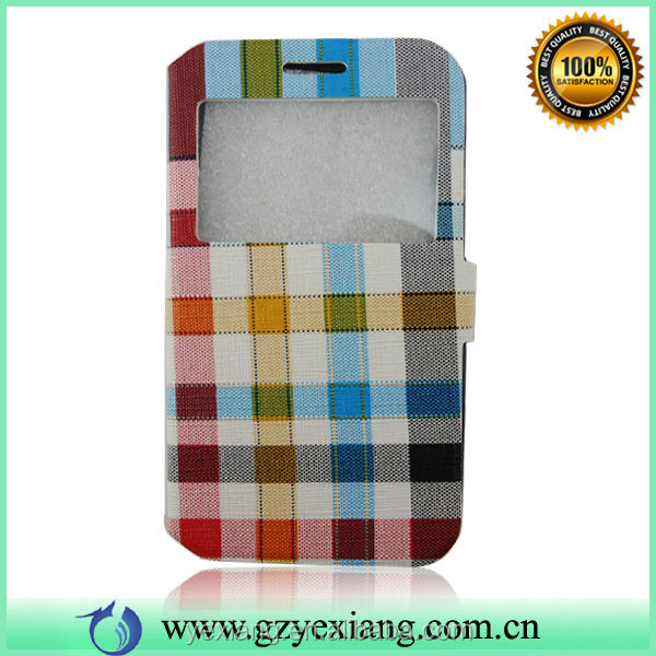 2015 New Products Portfolio Leather Flip Open Case For iPhone 4/4S