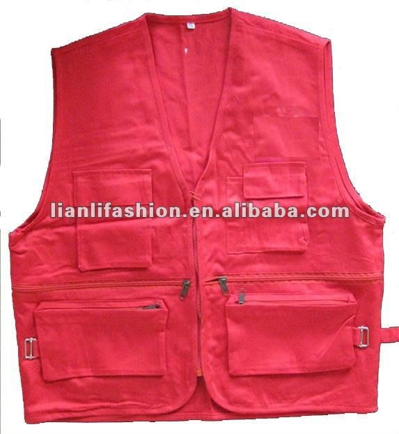 mens casual fishing vest