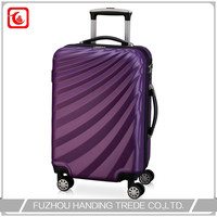 2016 hot sale abs / polycarbonate trolley expandable luggage factory