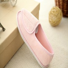 Hand made elegant white sole ladies canvas shoes