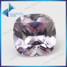 China Wholesale Price Lanvender Synthetic Square Shape Jewelry CZ Stone
