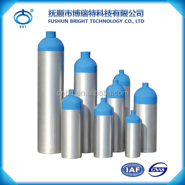 BPY-LJY 10L Ambulance Oxygen Cylinder Medical O2 Tank CE Approved Aluminum Ambulance Empty Oxygen Cylinders For Sale