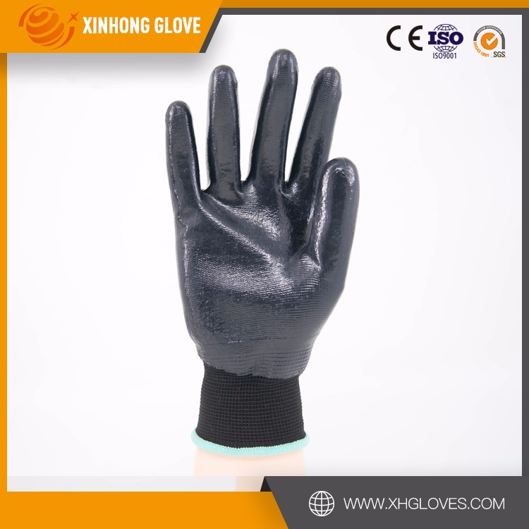 Xinhong china nitrile impregnated fabric gauntlet style safety fencing gloves