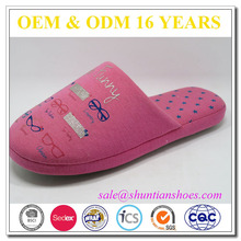 Global brands likable warm woman slippers from yangzhou supplier