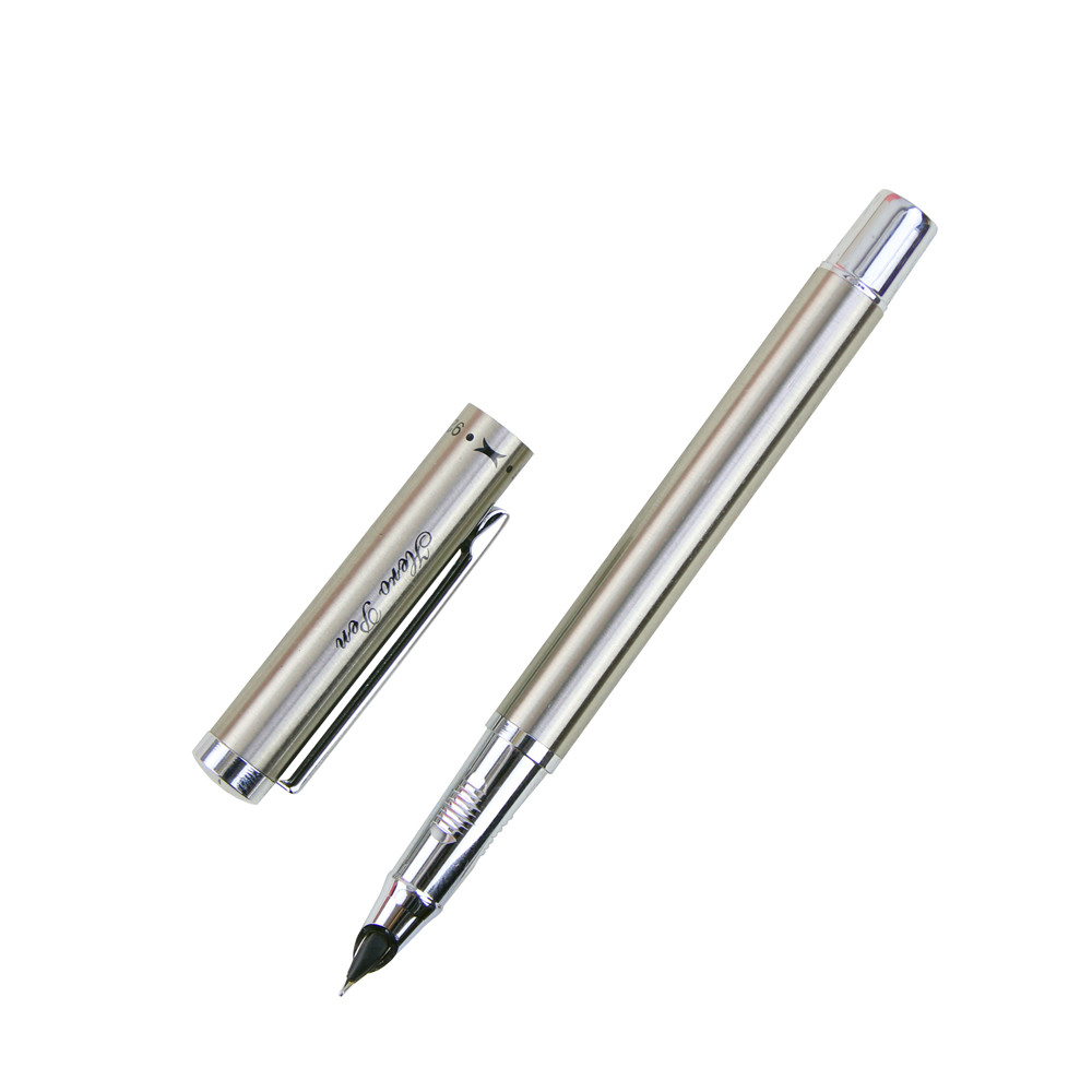 Silver Metal Hero Brand Fountain <strong>Pen</strong> For Business Gift Writing Customize Engrave Logo