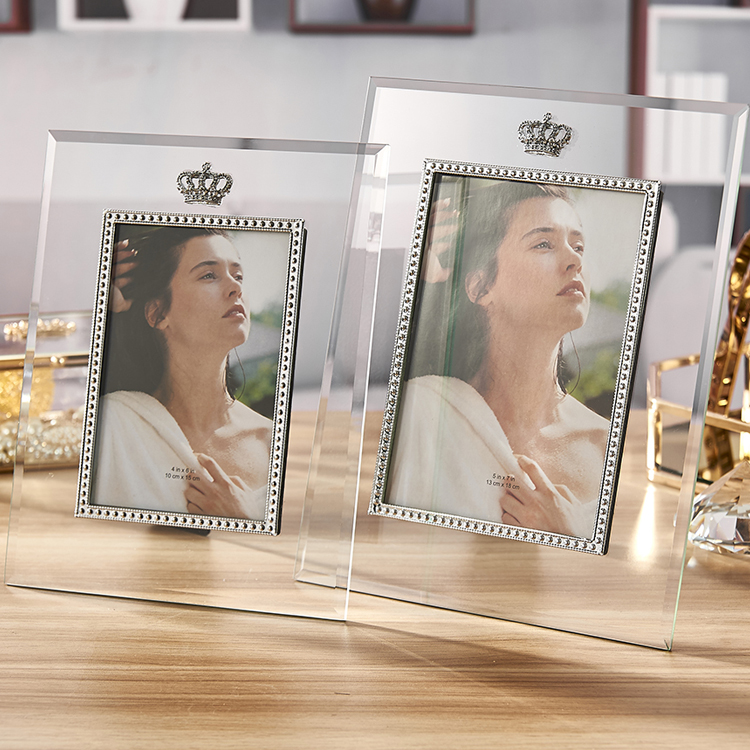 5x7 double sided glass different types of picture frames