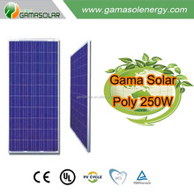 Gama Solar wholesale 250w poly solar panel flexible solar panel with cheap price