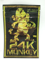 10g 24K Monkey Herbal Incense Bag Potpourri Smoke Bags Chemical Spice Plastic Packet With Zipper