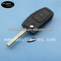 Topbest ford focus car flip remote key for 3 button ford remote key 433Mhz, 4D63 chip