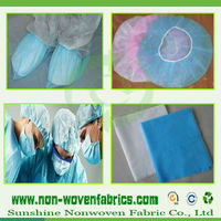 Non woven material for the production of Shoe covers & Buffant caps