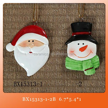 Snowman Relief Ceramic Decorative Hanging Banner Wall