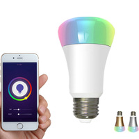 5W 7W 9W Wireless Color Changing Android App Voice Smartphone Controlled Remote Control Colored Wifi led smart bulb lighting
