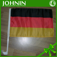 Fast Shipping Promotion Cheap Germany car flag with plastic flag pole