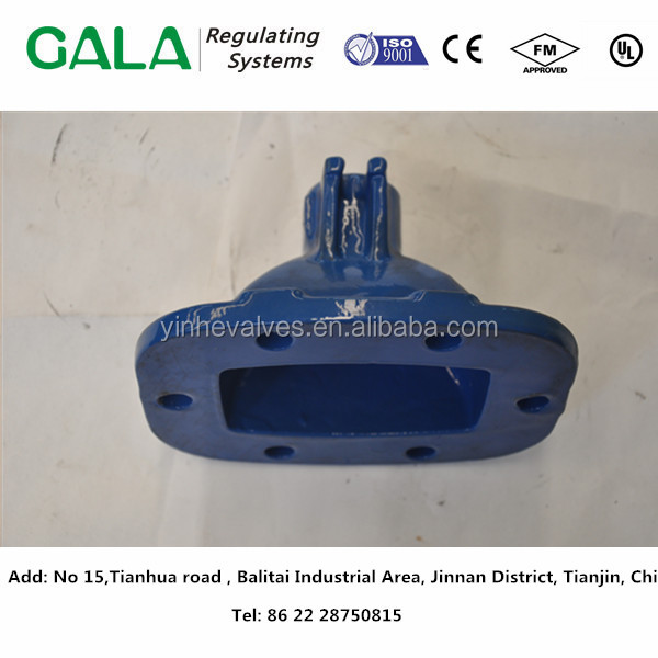 ISO9001custom fabrication Grey Iron/Ductile Iron Casting Valve Cover for water