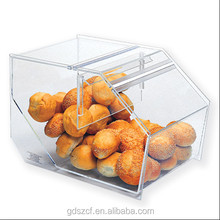 Experienced factory hand made acrylic stackable food bins with removable door