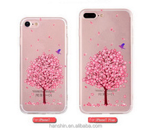 2017 New Arrival flower design Soft Silicone TPU phone <strong>case</strong> for iphone 7 7plus transparent price