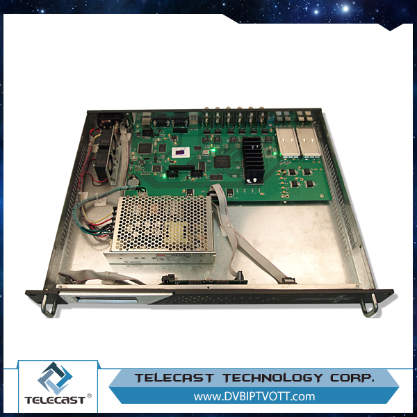 TELECAST MSQ08-IP Support LCN 8 in1 IP Mux-QAM module
