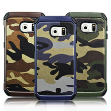 2015 New Marine Camo leather case for Samsung galaxy S6 edge plus