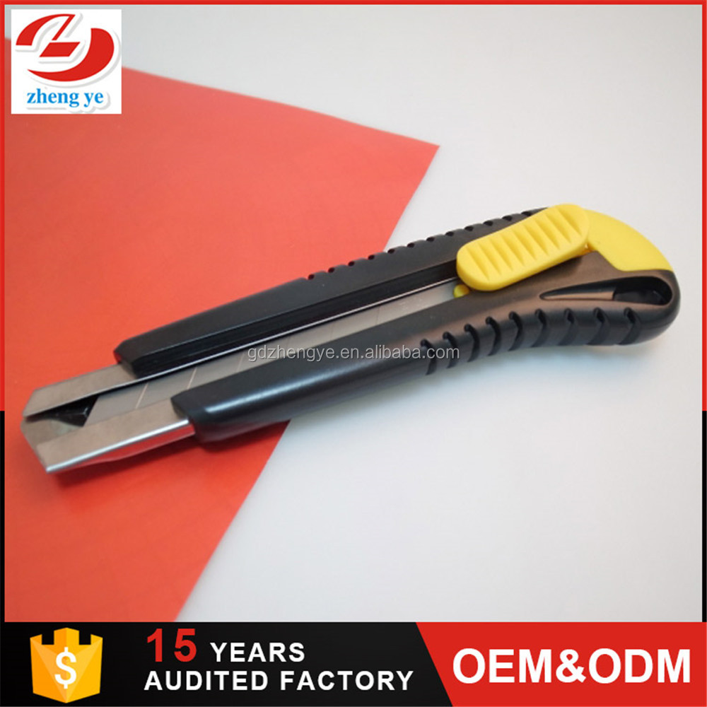 Free sample thicker utility cutter knife 25mm,box cutter knife,hot knife foam cutter