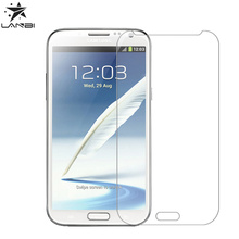 Original Crystal Clear Premium 0.4mm 9H Tempered Glass Screen Protector For Samsung Note2 Mobile Phone