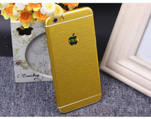 2017 hot sale custom phone stickers metal brushed grain cell phone skin self adhesive vinyl sticker for mobile phone