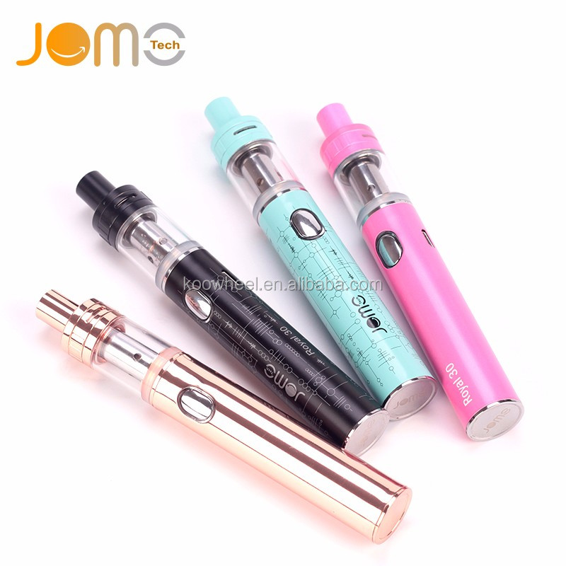 Jomotech 2017 hot new imports Royal 30 vape jomo 30w with rechargeable battery 1150mAh
