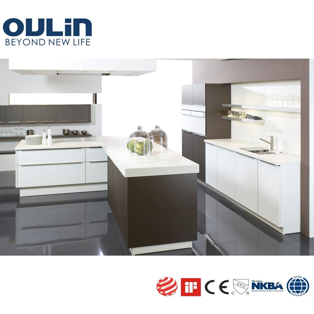 China white color modern lacquer wood kitchen cabinets
