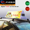 Advertising light boxes neon taxi sign