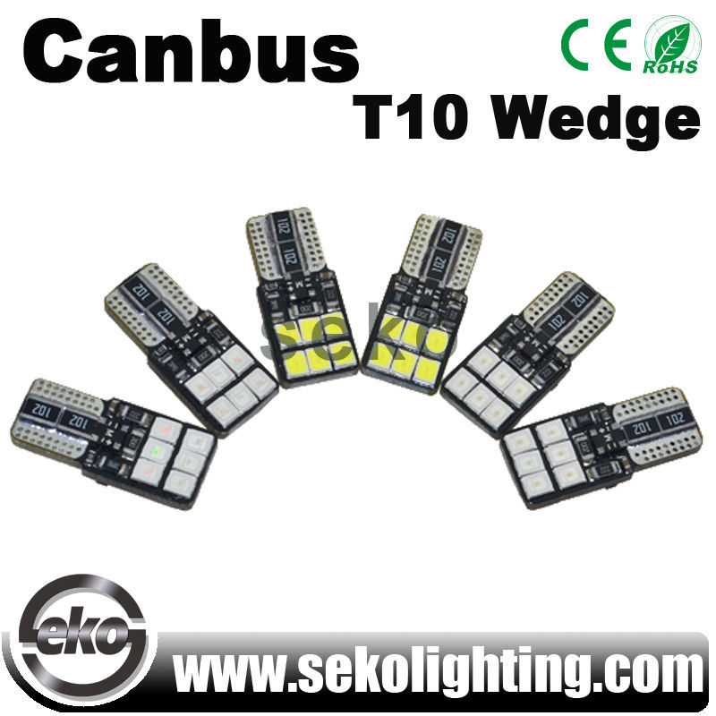 New premium Canbus W5W T10 wedge 12smd 2835 Epistar LED car light