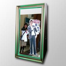 "47"" customized made magic photo mirror weddings party events touch screen mirror me photobooth case"