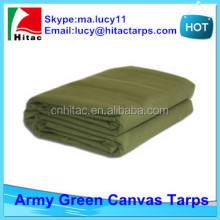 Army green canvas tarp,canvas truck tarpaulin