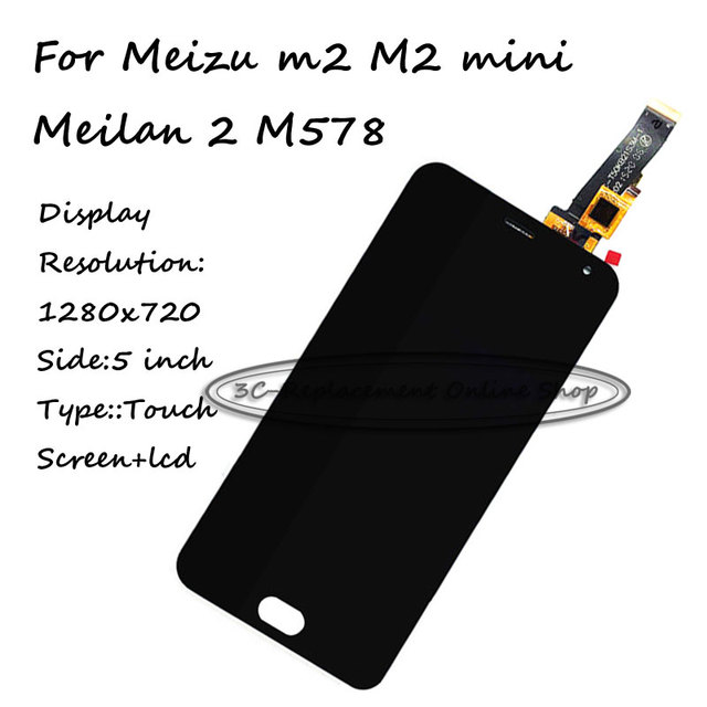 Black LCD+TP For Meizu m2 M2 mini / Meilan 2 M578 LCD Display with Touch Screen Digitizer Smartphone